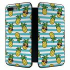 iPhone 7 PLUS Full Flip Wallet Case Cover Pineapple Pattern - S353
