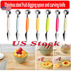 Fruit Spoon Carving Knife Tool Spoon To Dig The Ball Stainless Steel Double-head