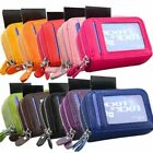 Ladies RFID Blocking Credit ID Card Holder Wallet Leather Zipper Pouch Purse Bag