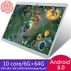 10.1 Inch HD Game Tablet Computer PC Android 8.0 6  64GB Dual Camera Tablet