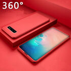 For Samsung Galaxy A70 A60 A40 360°Full Protect Case Cover Skin+ Tempered Glass