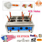 Electric 4/6 Holes Commercial Noodles Cooker Noodle Pasta Oven Machine W/ Filter