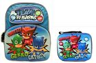 PJ Masks Boys School Deluxe Backpack Lunch box Book Bag SET Kids Toy Gift Pop Up