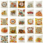 """18"""" Happy Thanksgiving Day Pillow Case Fall Decor Give Thanks Sofa Cushion Cover"""