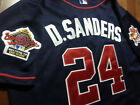 Brand New Cooperstown Atlanta Braves #24 DEION SANDERS w/2patch sewn Jersey Blue on Ebay