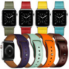 Retro Genuine Leather Band Men&Women Casual Strap for Apple Watch iWatch 4 3 2 1 image