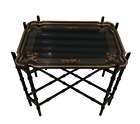 Baker Furniture Faux Bamboo Chinoiserie Tray Table