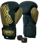 EVO Maya Leather GEL Boxing Gloves MMA Punch Bag Sparring Muay Thai Fight Train
