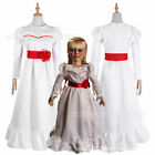 Adult&Child ConjingDoll Annabelle Halloween White Costume Fancy Dress Gown for sale  China