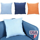 "18"" Linen Solid Pillow Case Polyester Cushion Cover Decorative Home Sofa Throw"
