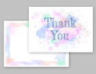 1-100 Pack of Thank You Cards Postcards Notes & Envelopes A6 Thankyou Watercolor