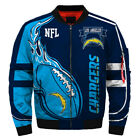 LOS ANGELES CHARGERS Men's Bomber Jacket Zip Up Jackets Football Team Fans NEW $80.99 USD on eBay