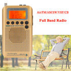 Portable Digital Full Band Radio Air FM AM SW VHF CB Receiver Mini Alarm Clock