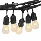 14M EXTENDABLE OUTDOOR GARDEN PARTY FESTOON BULB WEDDING GLOBE LED STRING LIGHTS