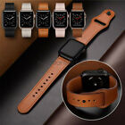 40/44mm Genuine Leather Apple Watch Band Strap for iWatch Series 5 4 3 2 38/42mm image