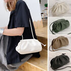 2 Sz/ Small Large Faux Leather Clutch Pouch Clip on Shoulder Bag Crossbody Purse