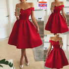 Womens Formal Mini Skater Dress Evening Cocktail Party Swing Rockabilly Dress