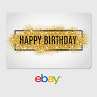 Kyпить eBay Digital Gift Card - Happy Birthday Gold Glitter -  Email delivery на еВаy.соm