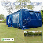 Gazebo Outdoor Party PE Tent Canopy Portable Cover Garage Shelter 3X3/4/6M HQ
