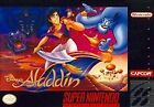 Disney's Aladdin Game Cartridge,  Works great,  No Manual Box (Super NES,  1993).