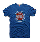 Detroit Pistons logo vtg retro NBA basketball homage t-shirt men's blue on eBay