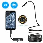 Six Led Lens Endoscope Waterproof Inspection Borescope Wire Snake Tube Camera