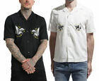 DIESEL S EAGLE Mens Casual Shirts Summer Embroidered Lyocell Lapel Short Sleeve