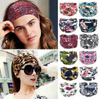 Boho Wide Cotton Stretch Headband Turban Sports Yoga Hairband Street Headwrap