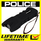 POLICE Stun Gun 916 500 BV Heavy Duty Rechargeable LED Flashlight Black