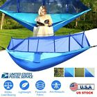 600lbs Single & Double Mosquito Net Hammock Nylon Camping Hanging Bed Outdoor