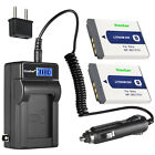 Kastar Battery LCD AC Charger for Sony NP-BD1 BD1 & Sony DSC-T90 Digital Camera