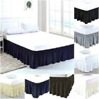 Luxury Dust Ruffle Bed Skirt With Wrap Around Microfiber/Polyester Cal-King Size image