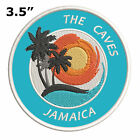 """The Caves Jamaica 3.5"""" Embroidered Iron or Sew-on Patch Souvenir Gear Applique"""
