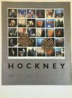 "VTG 1987 Art Print Repro David Hockney Exhibit Poster Advertisement 10.5"" x 14"""