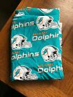 Miami Dolphins NFL 100% Cotton Fabric $8.75 yard Great for crafts Sewing $17.5 USD on eBay