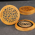 Starry Screen Wooden Coil Bamboo Incense Burner Plate Ash Holder Rack Catcher cheap