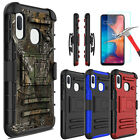 For Samsung Galaxy A10e Case With Holster Stand Belt Clip/glass Screen Protector