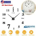 3D Mirror Surface DIY Large Wall Clock Acrylic Sticker for Living Room Bedroom