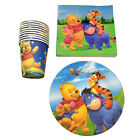 Winnie the Pooh Birthday Party Supplies Bag Filler Tableware Plates Decoration
