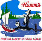 Hamms Beer Classic Retro Fishing - T-Shirt NEW image