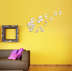 10pcs Musical Notes Acrylic Mirrors Wall Sticker Home Living Room Decorations