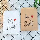 25pcs Love Is Sweet Kraft Paper Bags Wedding Party Favor Treat Pouch Supplies