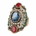 Ring Huge Size 7-10 Women Vintage Jewelry Rings Wedding Party Sapphire