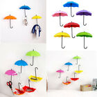 3xHooks Umbrella Wall Hook Key Hair Pin Holder Organizer Decorative Hanger TW