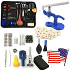 Watch Repair Tool Kit Remover Case Opener Spring Bar Back Pin Hand Band Set AD image