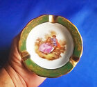 Vintage Limoges France Porcelan Ashtray with a Traditional Romantic Rural Scene