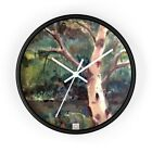 Wall clock with Portrait of a Birch