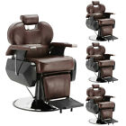 Classic Brown All Purpose Hydraulic Recliner Barber Chair Salon Beauty Equipment