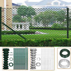 Garden Chain Fence Galvanized Wire Mesh Border PVC Coating with Post & Hardware
