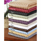Olympic Queen 1 PC Fitted Sheet Extra Deep Pocket Egyptian Cotton Striped Colors image